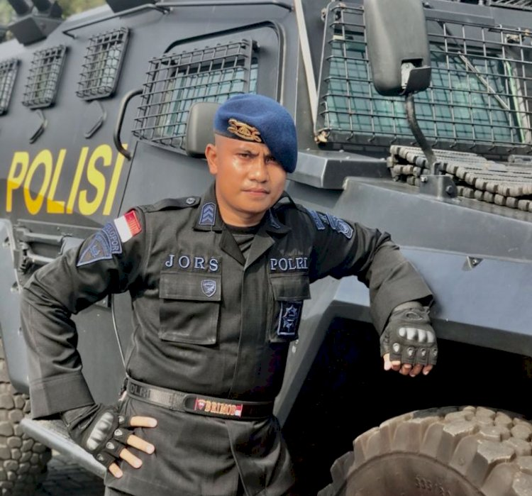 Salah Satu Anggota Satbrimobda NTT Ambil Bagian dalam PON XX 2021 Papua