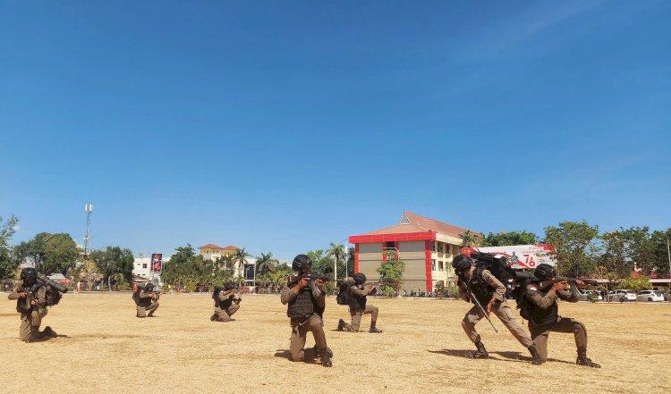 Personel Satbrimobda NTT Latihan Gerilya Anti Gerilya (GAG)