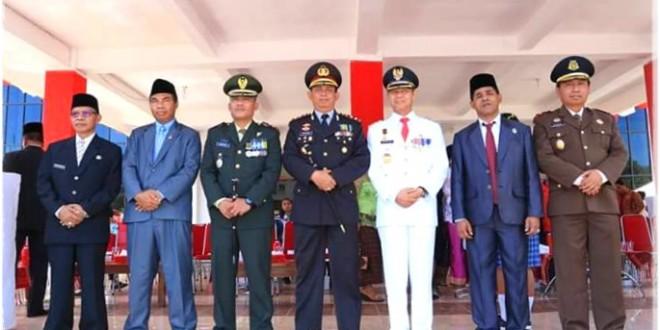 Kapolres Mabar Hadiri Upacara Peringatan HUT RI ke-72 tingkat Kabupaten Mabar