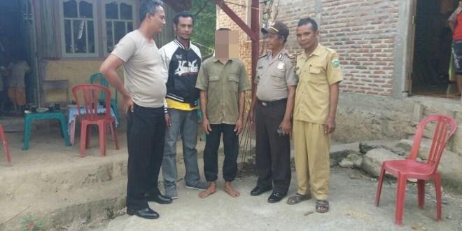 Aparat Polsek Sasitamean Ringkus Pelaku Pemerkosa Keponakan Kandung di Desa Ikan Tuanbeis-Io Kufeu
