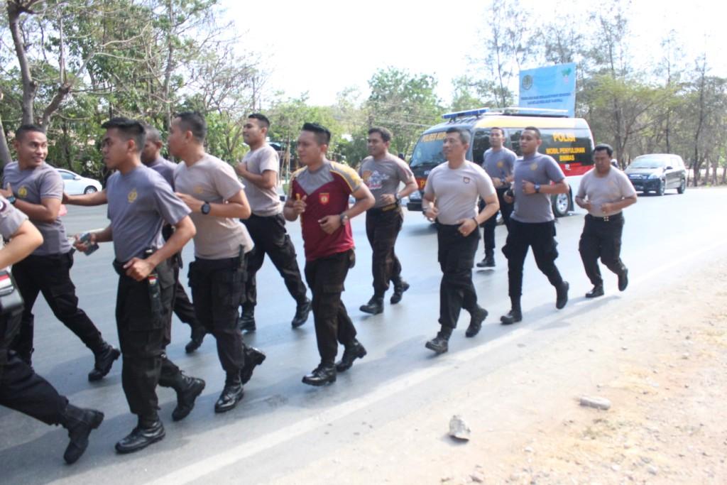 Jaga stamina dan kebugaran tubuh, Personel Polres Kupang Kota Tingkatkan Kemampuan jasmani