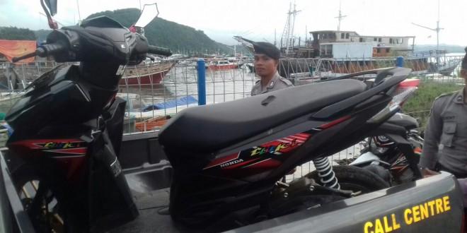 Ops K2YD di Pelabuhan ASDP Labuan Bajo, Sat Sabhara Polres Mabar amankan satu unit Ranmor R2 tanpa pemilik