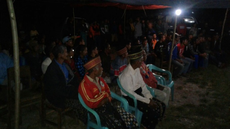 Personil Polsek Laba Leda, Polres Manggarai Amankan Kampanye Paket Nera