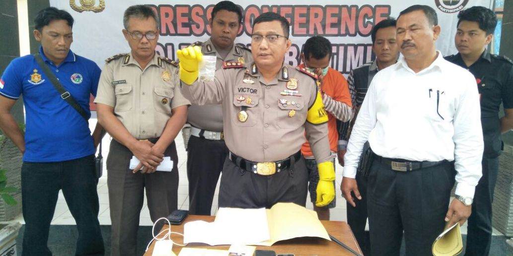 Polres Sumba Timur Press Conference Pengungkapan Kasus Narkoba
