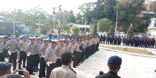 Pengumuman Putusan MK SBD, Pengamanan Ekstra Ketatpun di Lalukan Polres Sumba Barat