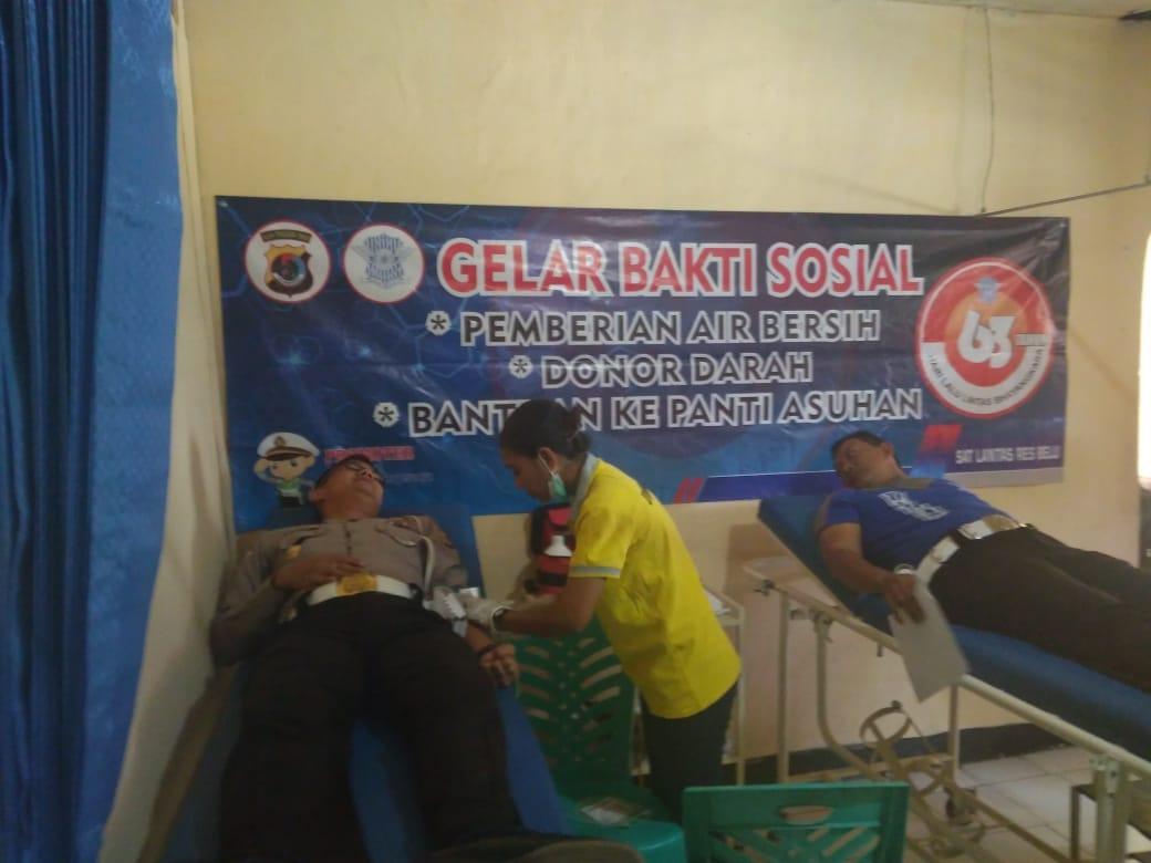HUT Lantas ke 63:Setelah Bagi Air dan Anjangsana ke Panti Asuhan, Sat Lantas Polres Belu Gandeng PMI Gelar Donor Darah