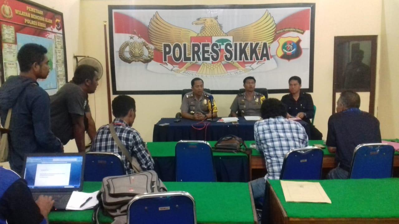 Sat Resnarkoba Polres Sikka Berhasil Amankan SK Bersama 2 Linting Ganja