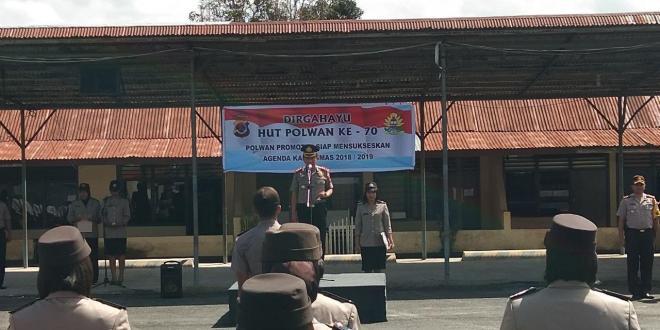 HUT Polwan Ke – 70 | Polwan Promoter Siap Mensukseskan Agenda Kamtibmas Tahun 2018 / 2019