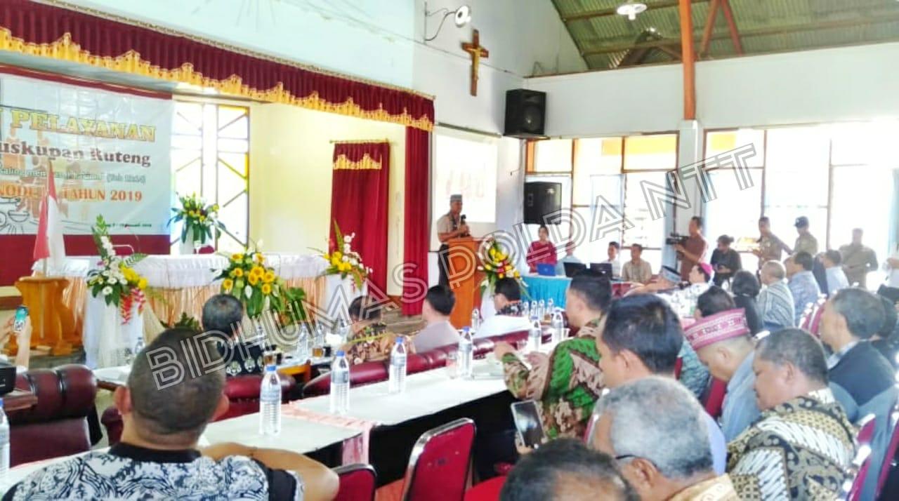 Wakapolda NTT Menghadiri Sidang Pastoral Keuskupan Ruteng