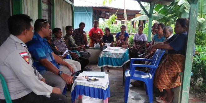Aparat Polsek Kobalima Amankan Pertemuan Terbatas Caleg DPRD Malaka Vinsensius Keli dengan Warga Rainawe