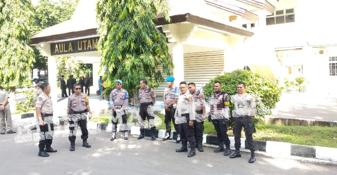 Pelantikan Empat Kepala Daerah, Polres Kupang Kota Melaksanakan Pengamanan