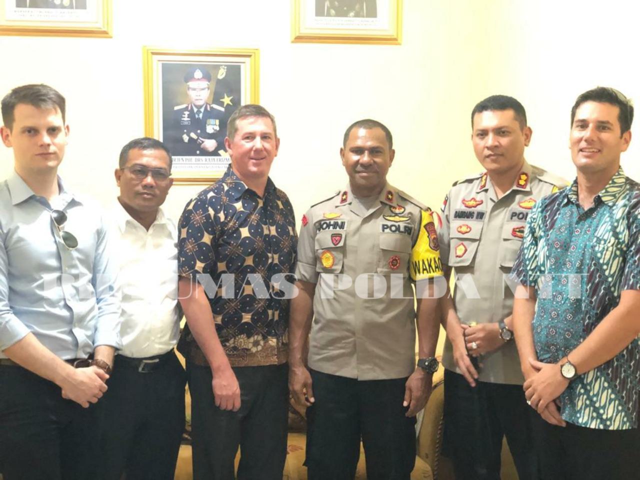 Polda NTT Menerima Kunjungan dari Delegasi Australia Federal Police
