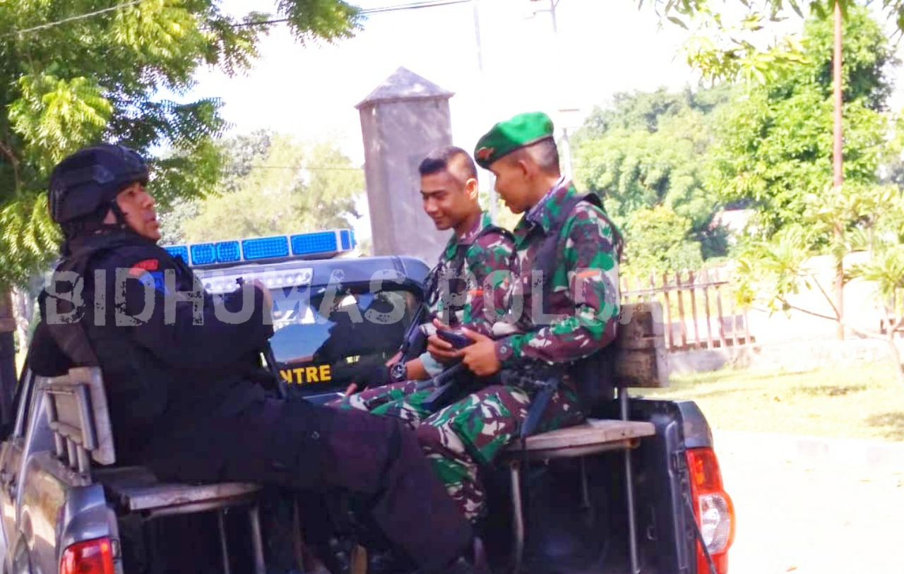 Polres Lembata Tingkatkan Pengamanan dengan Gelar Patroli Gabungan TNI-POLRI