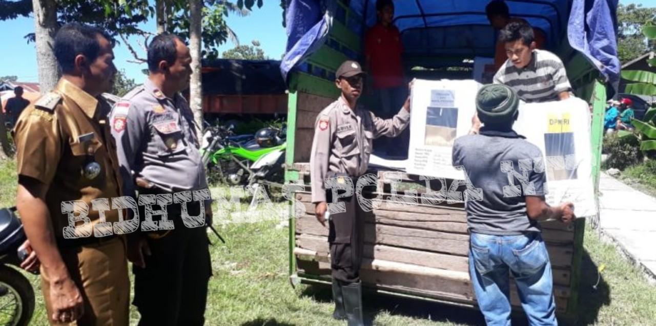 Personel TTS Lakukan Pengamanan dan Pengawalan Distribusi Logistik Pemilu 2019