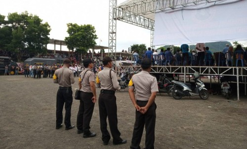 Personel Polres Ende Amankan Kampanye Capres