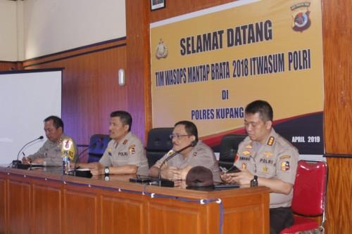 Tim Wasops Itwasum Polri Supervisi di Polres Kupang Kota