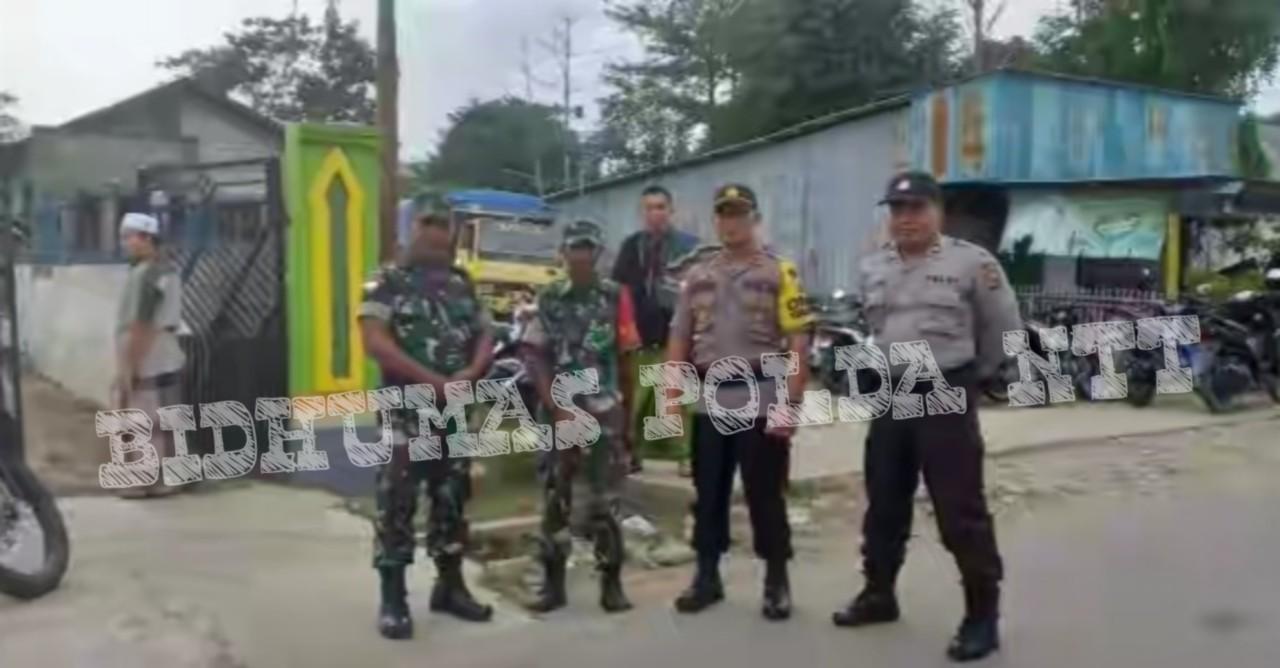 Personel Polsek Tasifeto Barat Amankan Jalannya Sholat Idul Fitri 1440 H