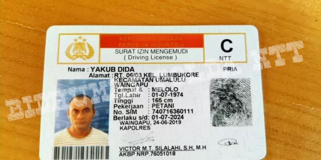 Satlantas Polres Sumba Timur Bagikan SIM C Gratis Bagi Warga Yang Berulang Tahun Tanggal 1 Juli