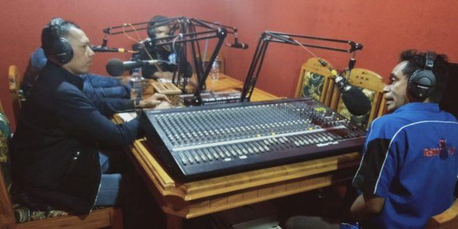 Melalui talk show, Kasat Reskrim Sampaikan Pesan Kamtibmas
