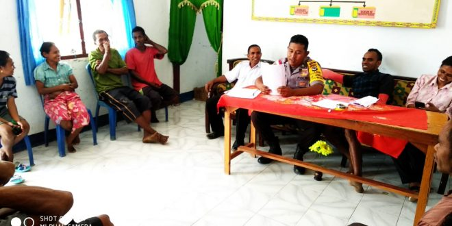 Bhabinkamtibmas Desa Usapinonot Cegah Tenaga Kerja Nonprosedural Pada Warga Binaannya