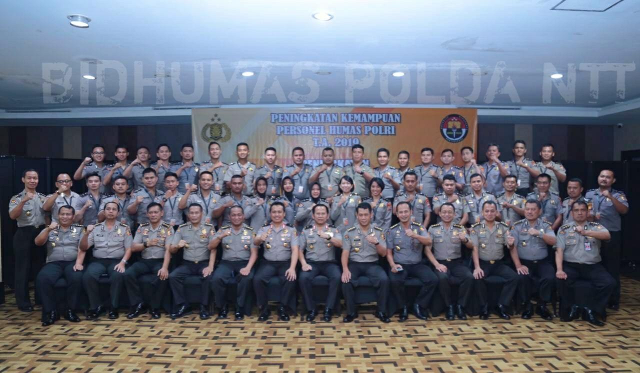 38 Personel Humas Polri Dari Seluruh Polda Ikuti Pelatihan Peningkatan Kemampuan