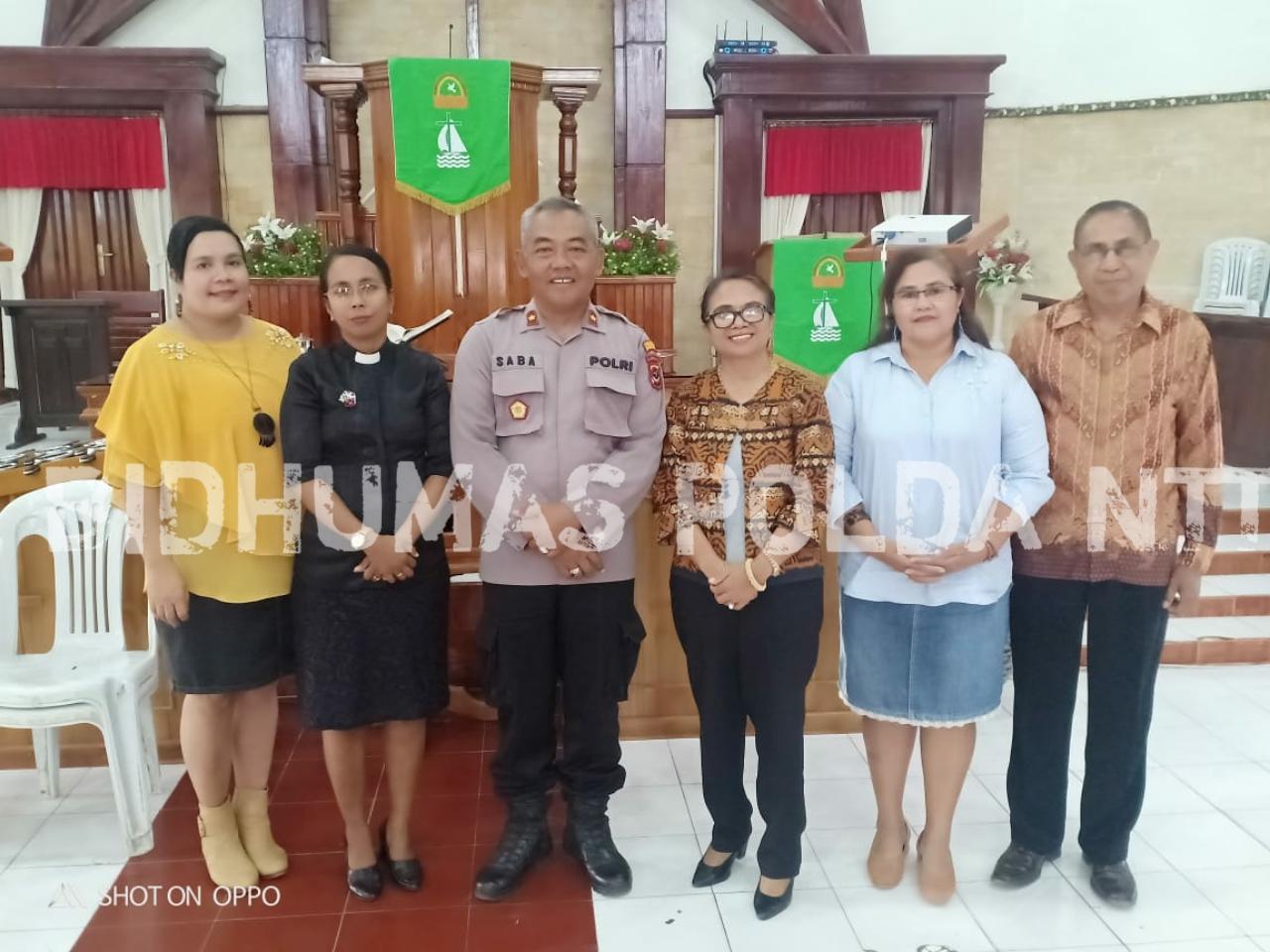 Kapolsek Oebobo Sosialisasi Tentang PPA di Gereja Maranatha Oebufu