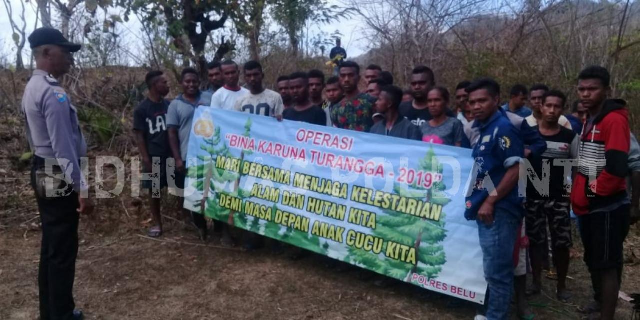 Cegah Karhutla, Bhabinkamtibmas Polres Belu Aktif Himbau Warga Binaanya