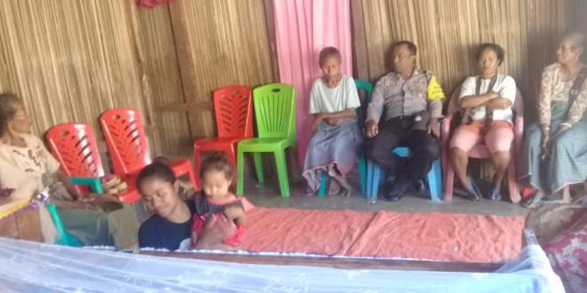 Sambang Rumah Duka, Ini Yang Disampaikan Oleh Bripka Ari Sabuan