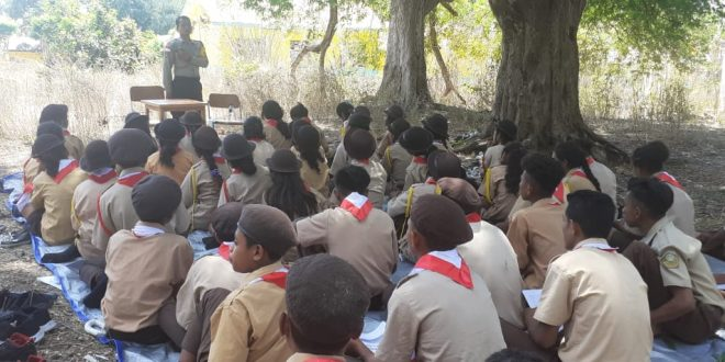 Personel Polsek Noemuti Lakukan Sosialisasi Cegah Kenakalan Remaja