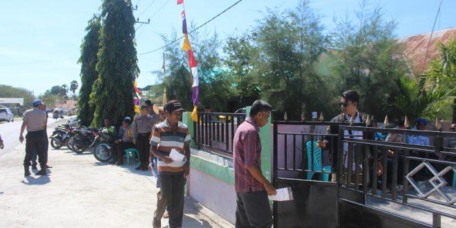 Puluhan Personel Polres Rote Ndao Amankan Sidang Pleno Terbuka KPUD