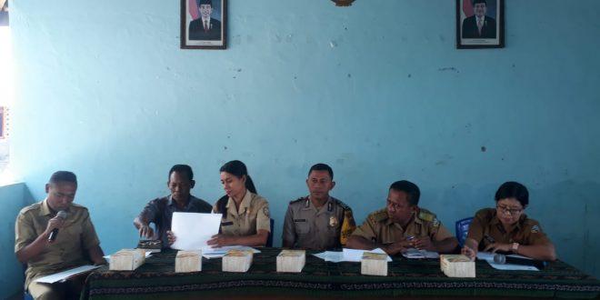 Bripka Zainudin Syafrin, Hadiri Rapat Evaluasi Rt/Rw Tingkat Kelurahan Tetandara