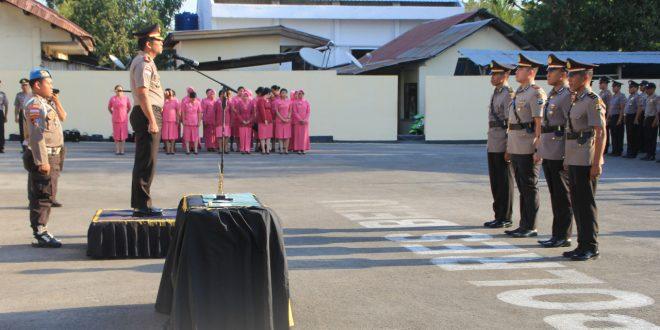 Kapolres Belu Pimpin Upacara Pelantikan Kabag Ops dan Sertijab Dua Pejabat di Lingkup Polres Belu