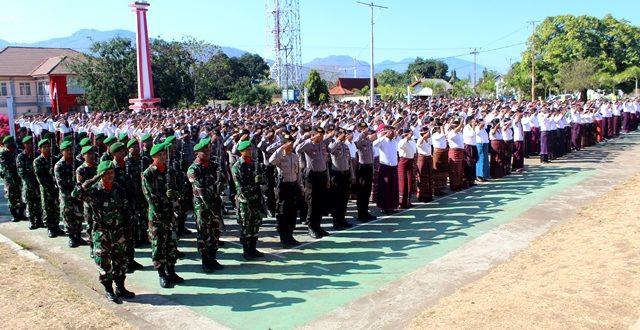 Personel Polres Flotim Ikuti Upacara Peringatan Hari Kesaktian Pancasila