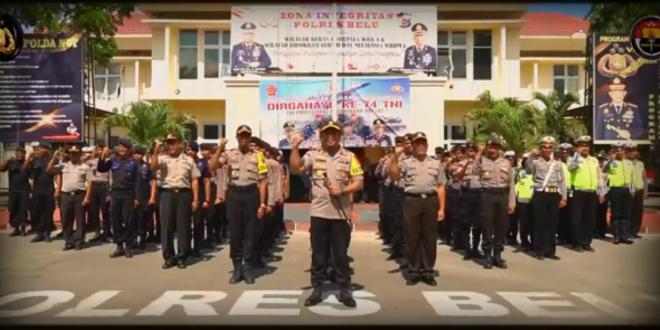 HUT TNI ke 74, Kapolres Belu Harap Sinergitas TNI-Polri Semakin Kokoh