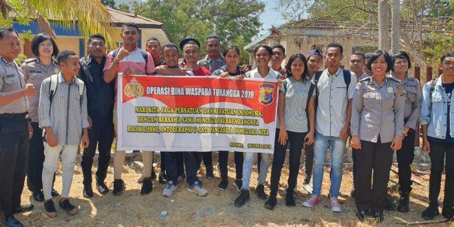 Mencegah Paham Anti Pancasila, Satbinmas Polres Kupang Kota Laksanakan Operasi Bina Waspada Turangga 2019