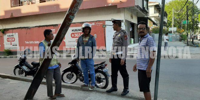 Unit Dikyasa Satlantas Polres Kupang Kota Imbau Ojek Tak Parkir di Bahu Jalan