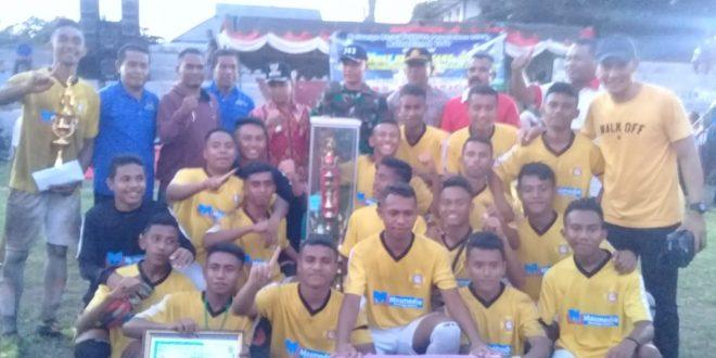 Personel Polres Ende Amankan FInal Sepak Bola Muthmainah Cup Tahun 2019