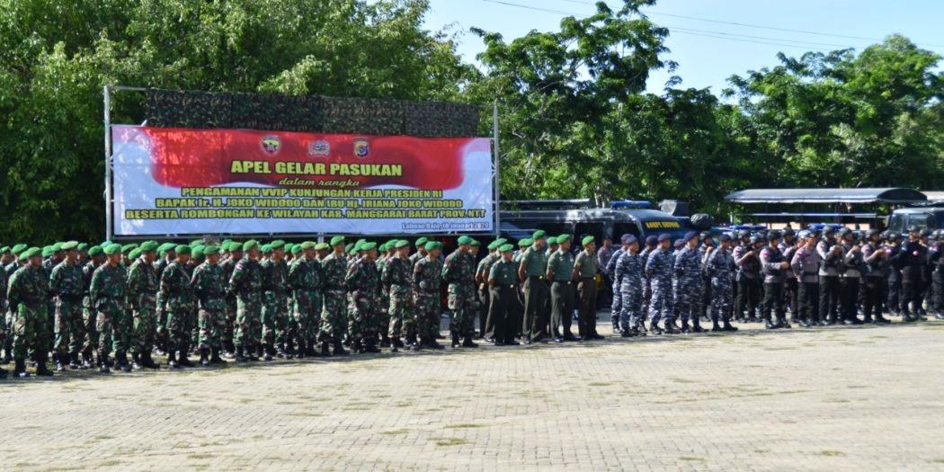 Jelang Kunker Presiden RI ke Labuan Bajo, Gabungan Personel TNI Polri Gelar Apel Kesiapan Pengamanan VVIP