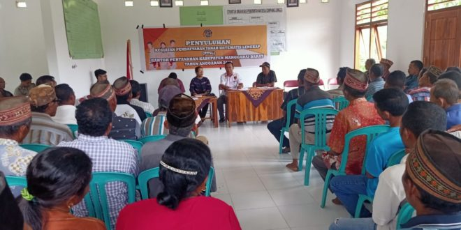 Kasat Reskrim Polres Mabar Hadiri Sosialisasi PTSL Oleh BPN Kabupaten Manggarai Barat