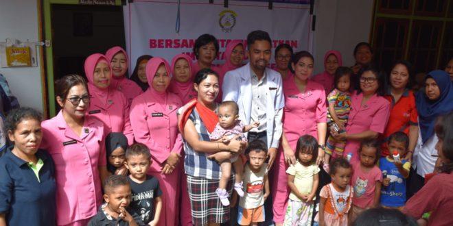 Peduli Kesehatan Anak, Bhayangkari Cabang Mabar Gelar Pelayanan Posyandu Rutin