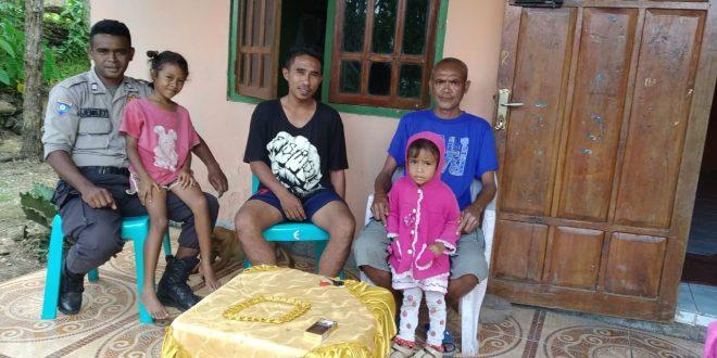 Jaga Situasi yang Kondusif, Bhabinkamtibmas Silaturahmi ke Rumah Warga Binaannya