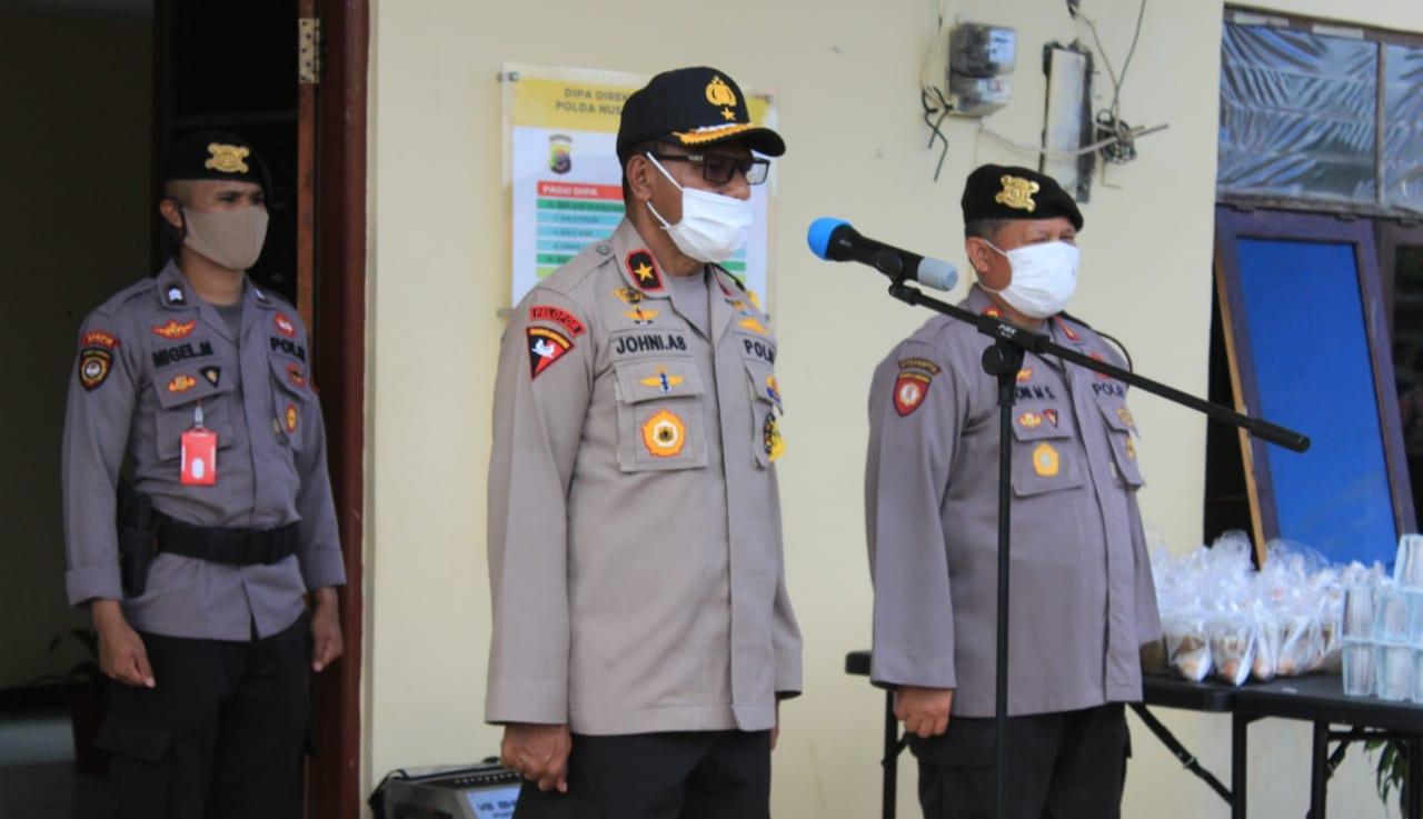 Wakapolda NTT : Agar Personel Selalu Mengikuti SOP Pencegahan Covid -19