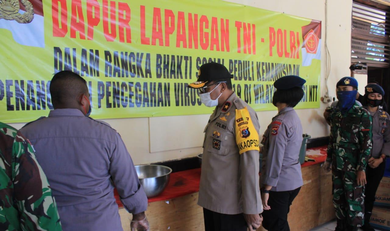 Cek Dapur Umum TNI - Polri, Wakapolda NTT : Agar Kebersihan Dapur Selalu Dijaga