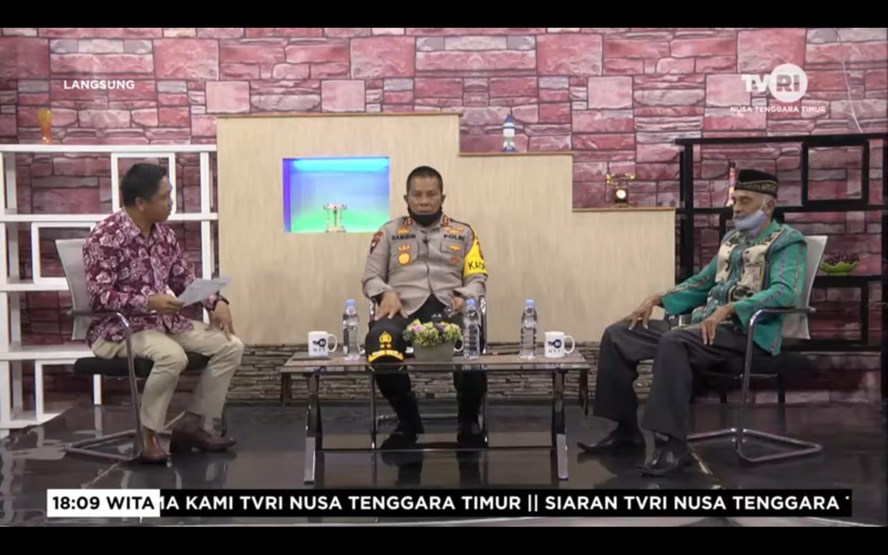 Jadi Narasumber di TVRI, Kapolda NTT : Sebab Garda Terdepan Itu Justru Pada Masyarakat Itu Sendiri